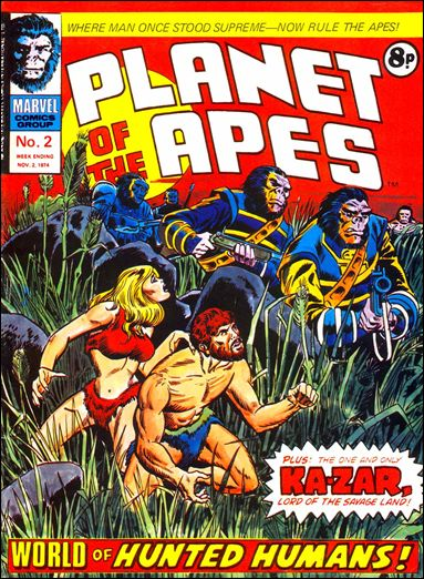 Planet of the Apes #2, Marvel UK