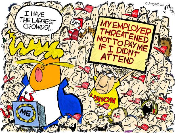 Donald Trump at rally saying,