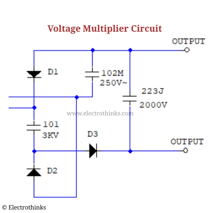 High Voltage Mosquito Killer Circuit Diagram