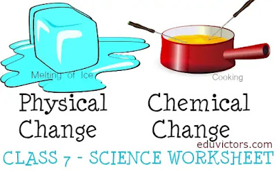 CBSE Class 7 - Science - Physical & Chemical Changes (Worksheet)(#eduvictors)(#cbse2020)(#class7Science)