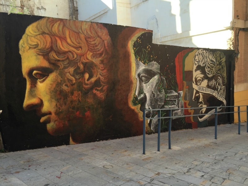 Street art by the Roman Theatre in Cartagena