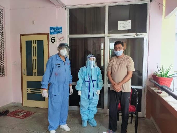 विधायक मुकेश कोली का गनर निकला कोरोना संक्रमित विधायक ने करवाया अपना कोरोना टेस्ट