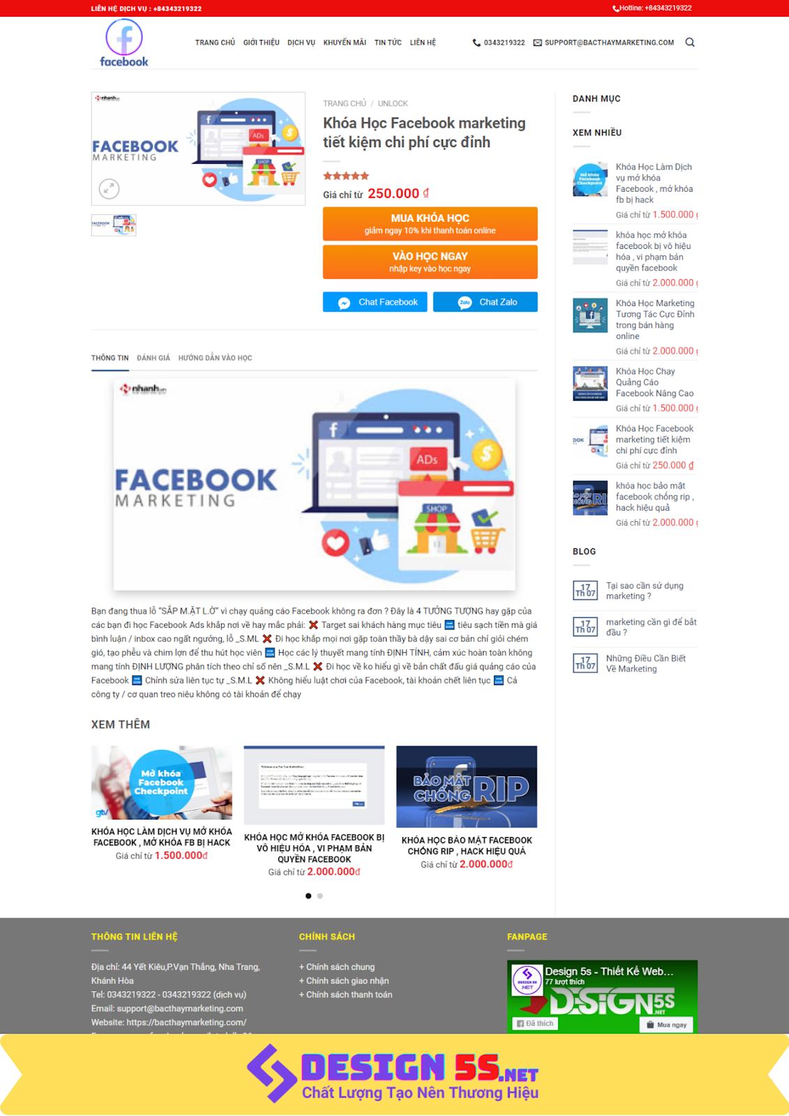 Mẫu website bán khóa học online chuyên nghiếp chuẩn google - Ảnh 2