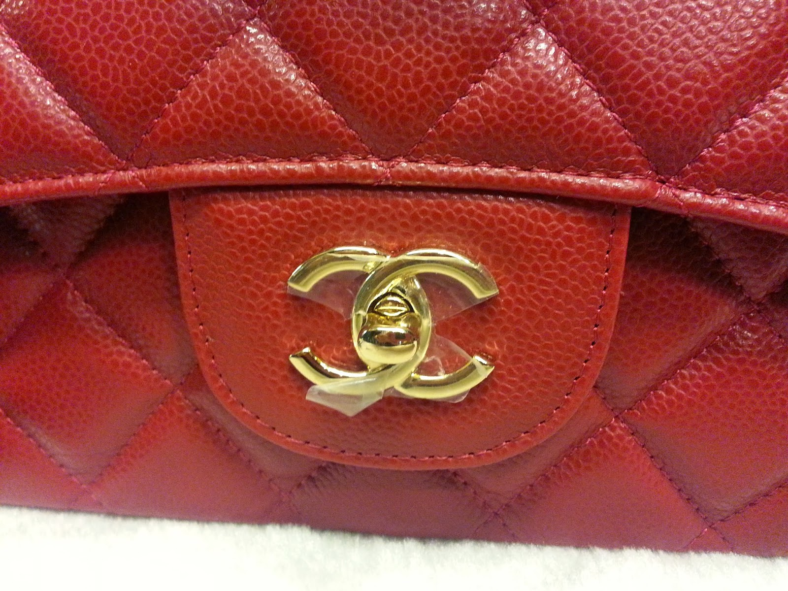 71a6177760cb Deal Treasure: Chanel Classic Jumbo Red Caviar Leather Double Flap ...