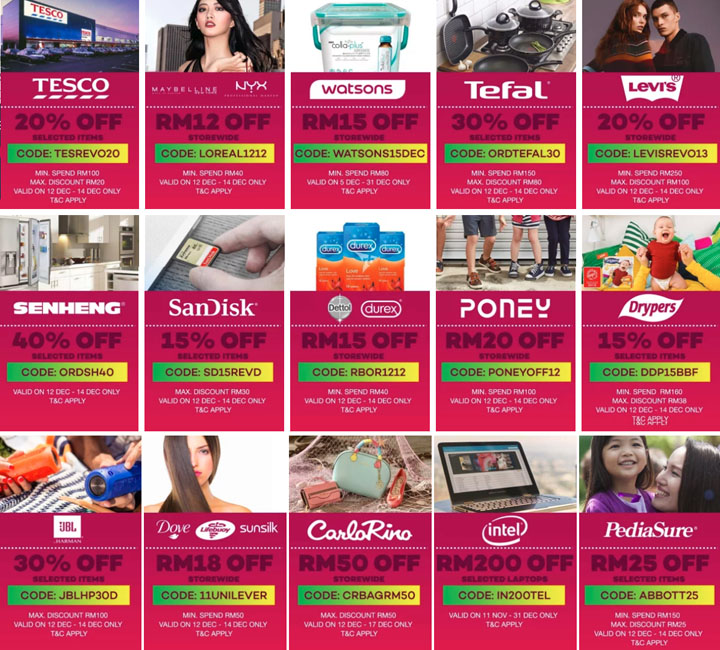Online Revolution Voucher Coupons 2017