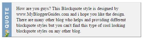Blogger Blockquote Style 28