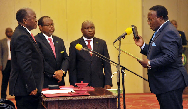 Image result for photos of magufuli mwakyembe, mhagama and simbachawene