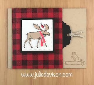Stampin' Up! 2019 Holiday Catalog Sneak Peek ~ Merry Moose ~ Peekaboo Flip Card ~ Control Freaks Fun Fold Blog Hop