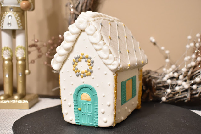 Sugar Cookie House Gingerbread house with royal icing