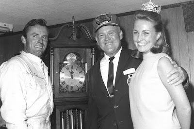 Martinsville Speedway Grandfather Clock Stands Out Among Trophies - #NASCAR