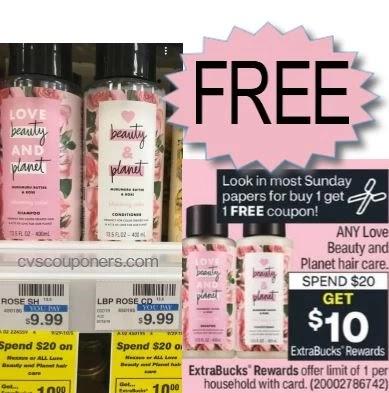 free love and beauty at cvs this week