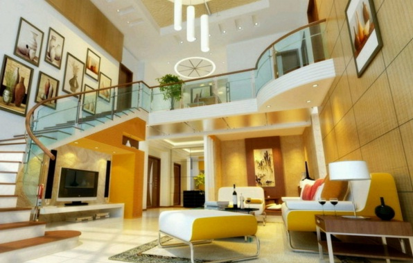 Luxury Living Room Minimalist Design with 2 Floors 1