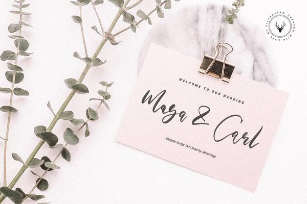 Maria Rose Elegant Script SVG Font