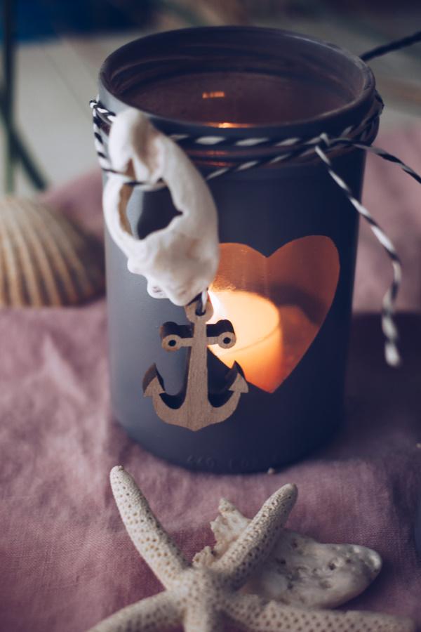 Einfach selber machen: DIY Windlichter mit Meeresbrise für laue Sommerabende. Oder für einen kuscheligen Herbst. titatoni.de