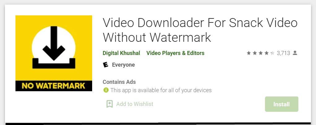 snack video downloader