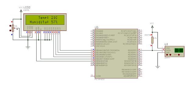 dht11 sensor mikroc library pic18f4550