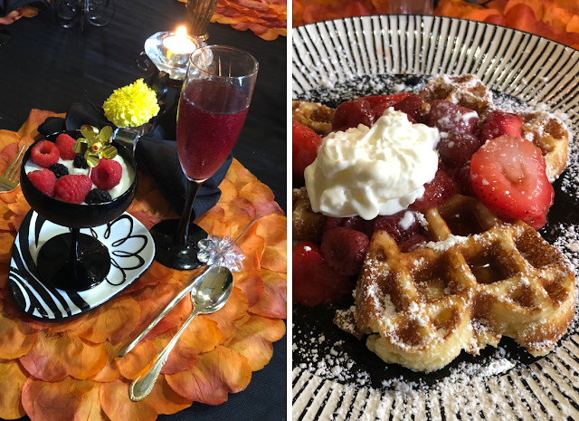 Fresh berries, a parfait and fresh Belgian waffles delighted during our breakfast.