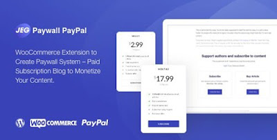 Jeg Paywall & Content Subscriptions System with Paypal for WooCommerce v1.0.1