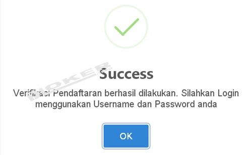 verifikasi suksess
