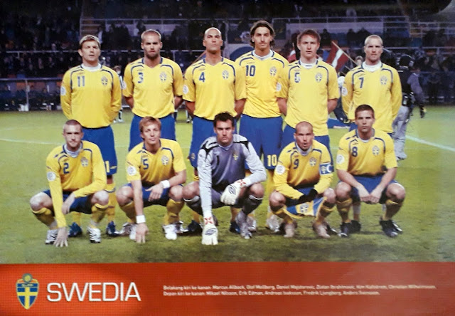 SWEDEN FOOTBALL TEAM SQUAD 2007
