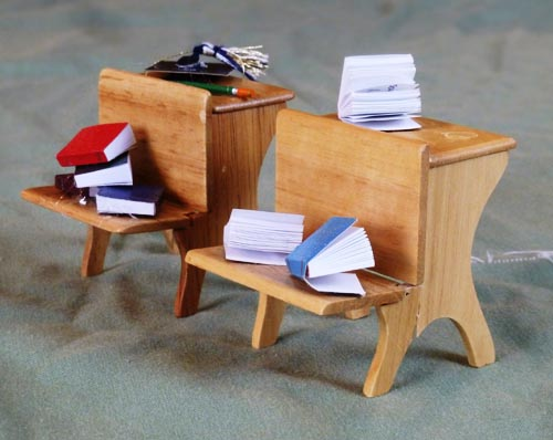 Model Desks Arranged for Photoshoot