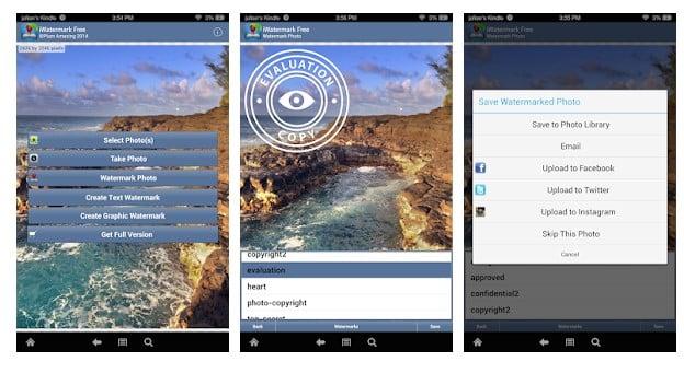 Aplikasi Cara Menambahkan Watermark pada Gambar Android - Watermark Apps Android iWatermark Free Watermarking