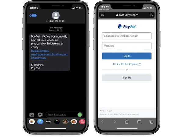 Tentativa de burla no Paypal através de SMS