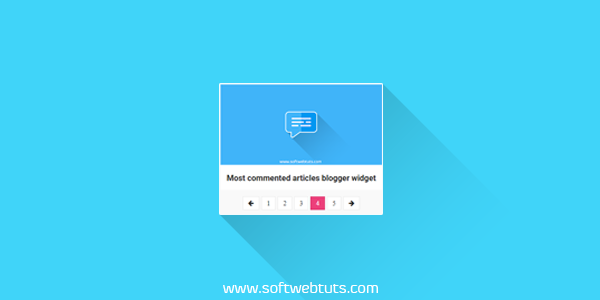 Recent Posts Slider with Pagination Blogger Widget