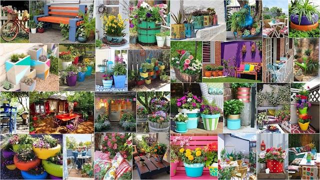 30+ Ιδέες για να προσθέσετε χρώμα στον κήπο ή το μπαλκόνι