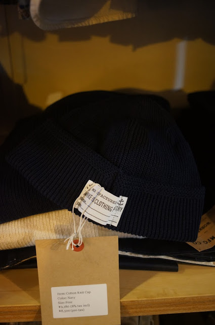 Workers Cotton Knit Cap,Navy