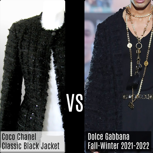 Chanel Classic Black Jacket VS Dolce Gabbana Fall-Winter 2021-2022