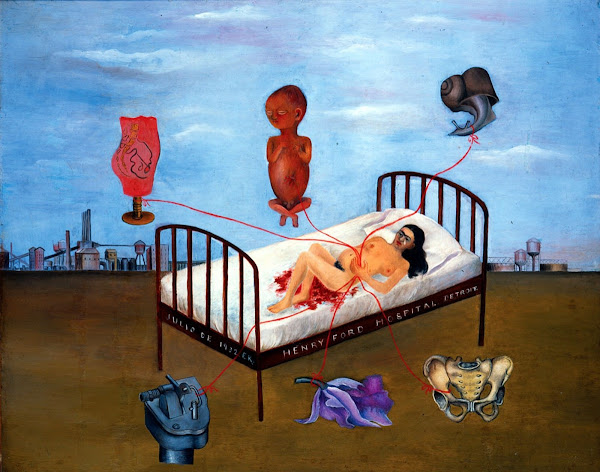Henry Ford Hospital.by Frida Kahlo, Macabre Paintings, Horror Paintings, Freak Art, Freak Paintings, Horror Picture, Terror Pictures
