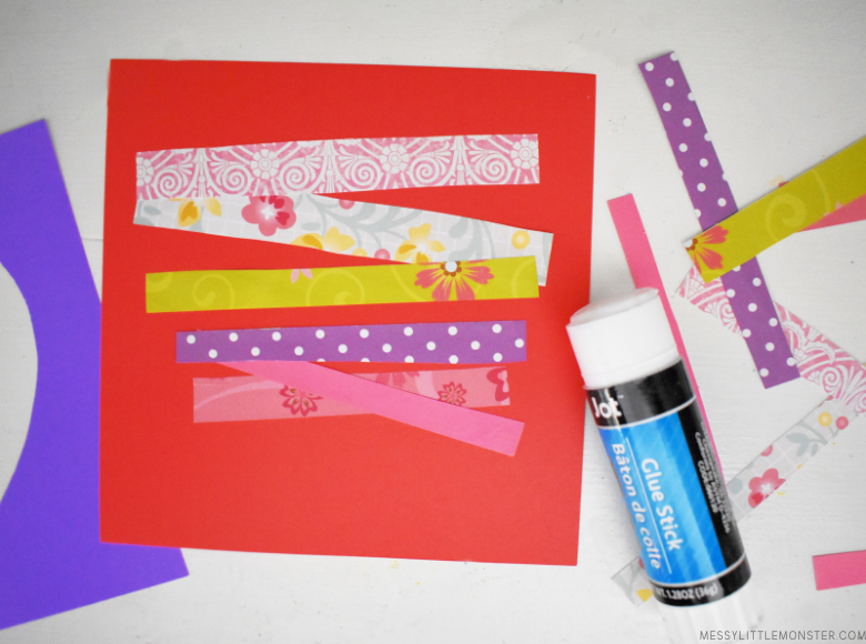 paper strips for heart craft
