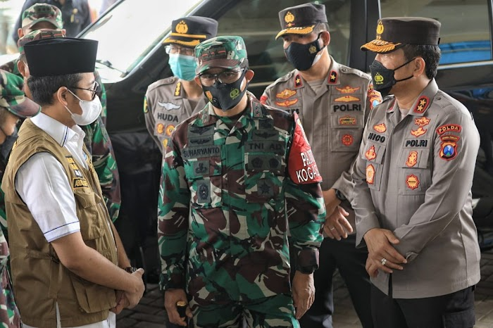 Antisipasi Lonjakan Covid-19 di Bangkalan: Gubernur, Kapolda Jatim dan Pangdam V Brawijaya, Laksanakan Manajemen Krisis