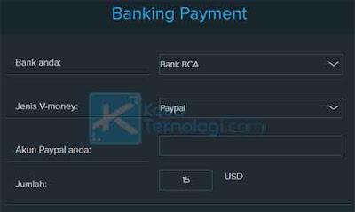 Selanjutnya, masukkan data rekening Anda dan pilih bank yang Anda gunakan. Setelah itu, Anda bisa memasukkan nominal saldo yang akan dikirim ke akun PayPal Anda.