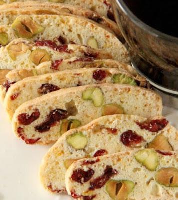 Cranberry Pistachios Biscotti