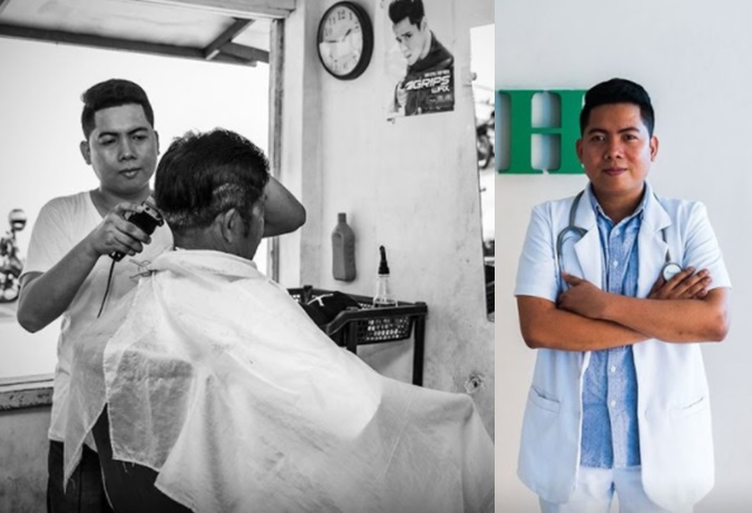 Former barber, now a licensed physician