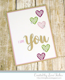 I Love You card-designed by Lori Tecler/Inking Aloud-stamps and dies from SugarPea Designs