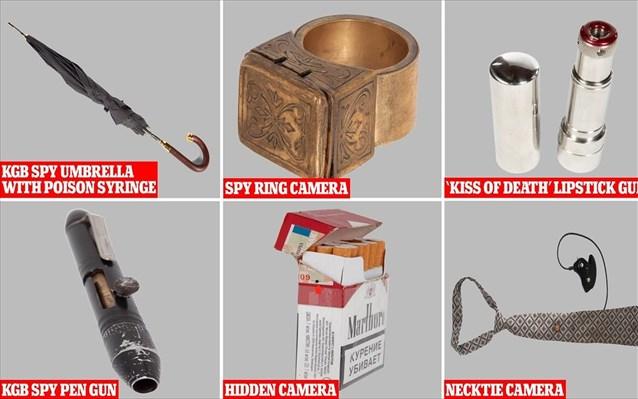 Στο σφυρί γκάτζετ κατασκόπων της KGB