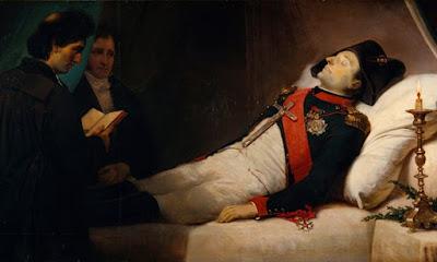 Napoleone nel letto di morte