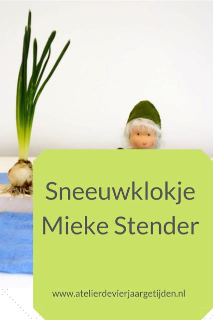 Vilt sneeuwklokje naar een patroon van Mieke Stender