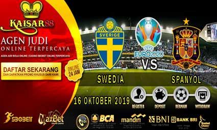 PREDIKSI BOLA TERPERCAYA SWEDIA VS SPANYOL 16 OKTOBER 2019