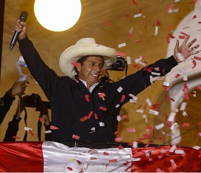 """Peru elege o professor Pedro Castillo: """"nunca mais um homem pobre em país rico!"""""""