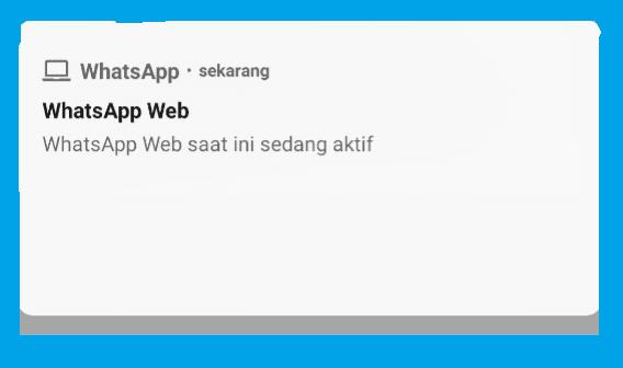 Panel Notifikasi WA Web
