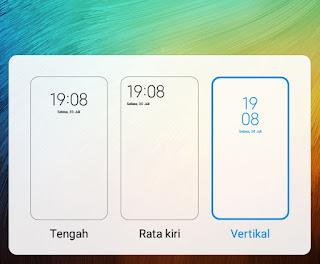 Mengubah Jam Lock Screen Xiaomi Vertikal Tanpa Aplikasi