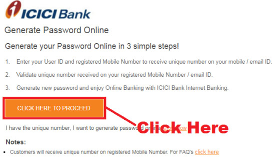 how to activate my icici net banking