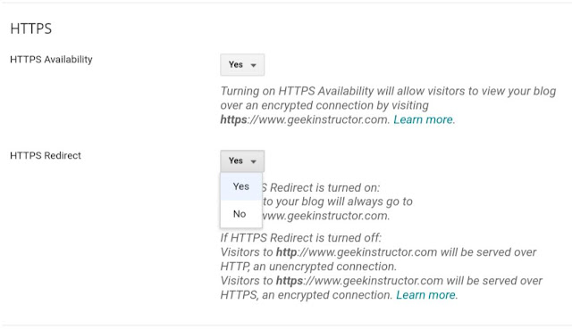 Disable HTTP to HTTPS redirection