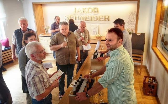 Weinprobe im Weingut Jakob Schneider an der Nahe