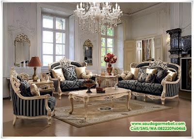 Set Kursi Tamu Sofa mewah Ukiran, Set Ruang Tamu Ukir