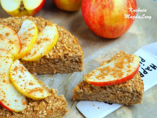 Pieczona owsianka z jabłkiem